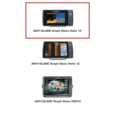 ANTI-GLARE Graph Glass HUMMINBIRD Helix10