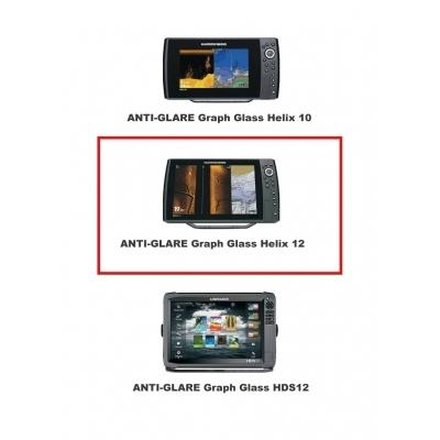 ANTI-GLARE Graph Glass  HUMMINBIRD Helix 12